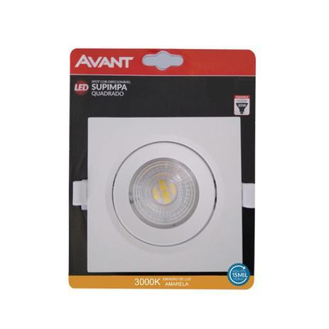 Spot de LED 3000K 3W quadrado - Luz Amarela
