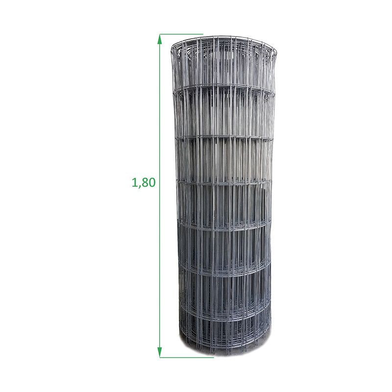 Tela Galvanizada Soldada - 1,80 x 25 m - Malha 5x15 cm