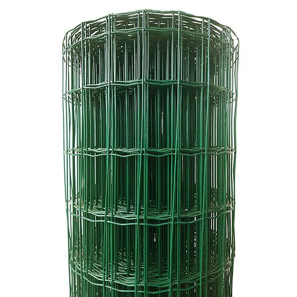 Tela Soldada e Revestida em PVC - 0,60 x 25 m - Malha 5x10 cm