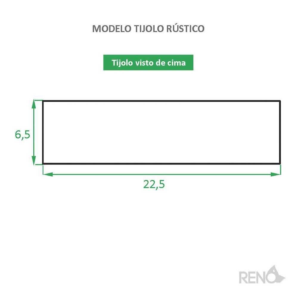 Tijolinho de Barro para Revestimento Rústico Caixa com 1,11 M²