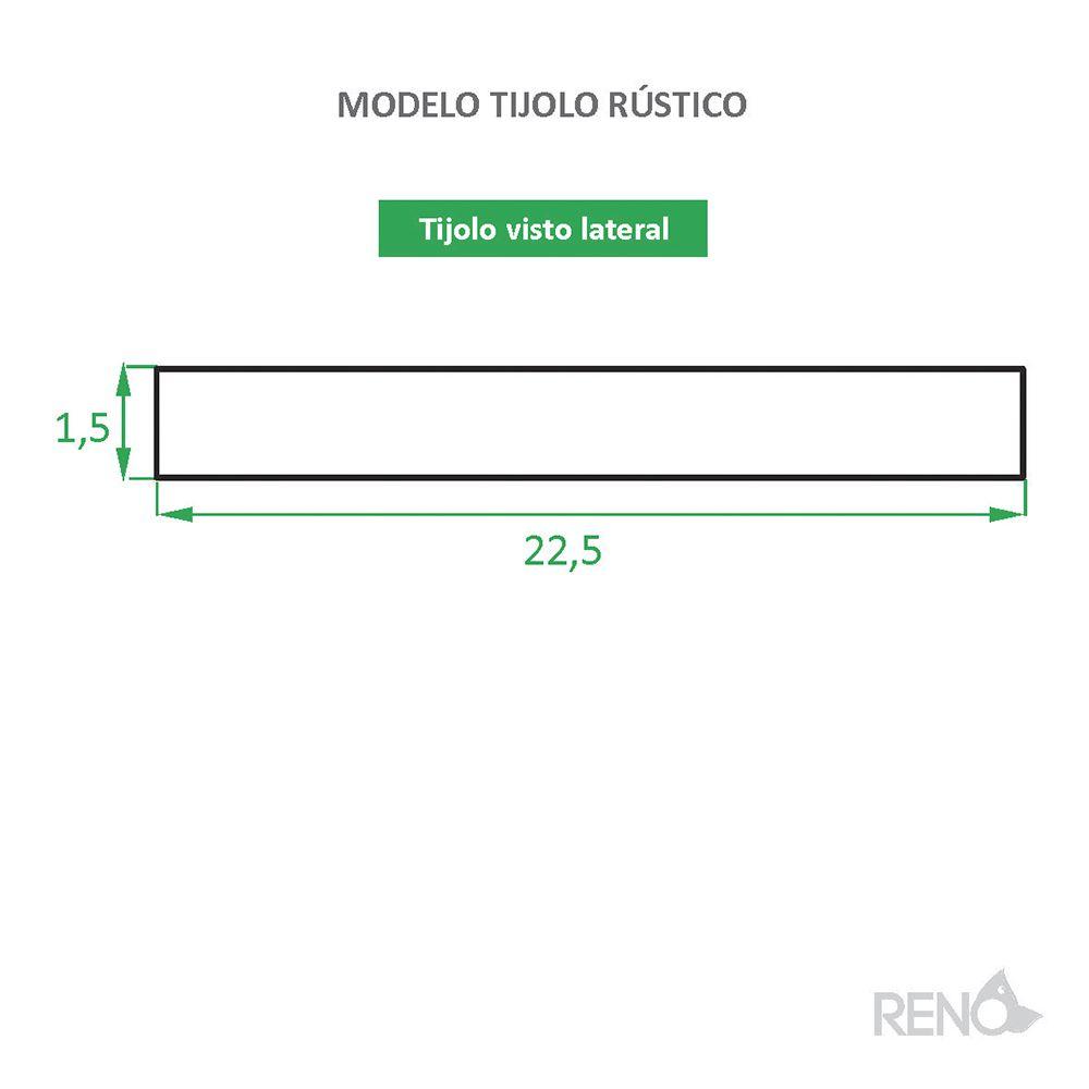 Tijolinho de Barro para Revestimento Rústico Caixa com 0,85 M²