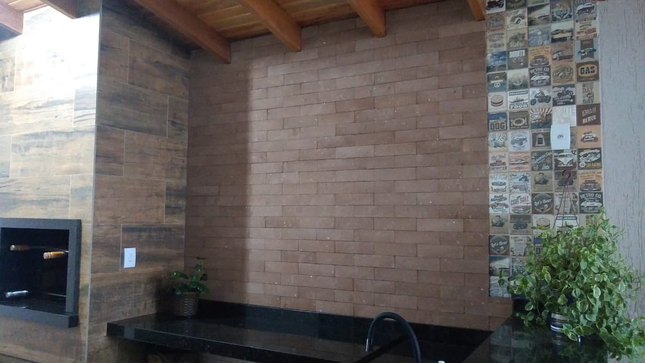 Tijolinho ecológico para Revestimento Rústico - Rancho Queimado Caixa com 1,05 m²
