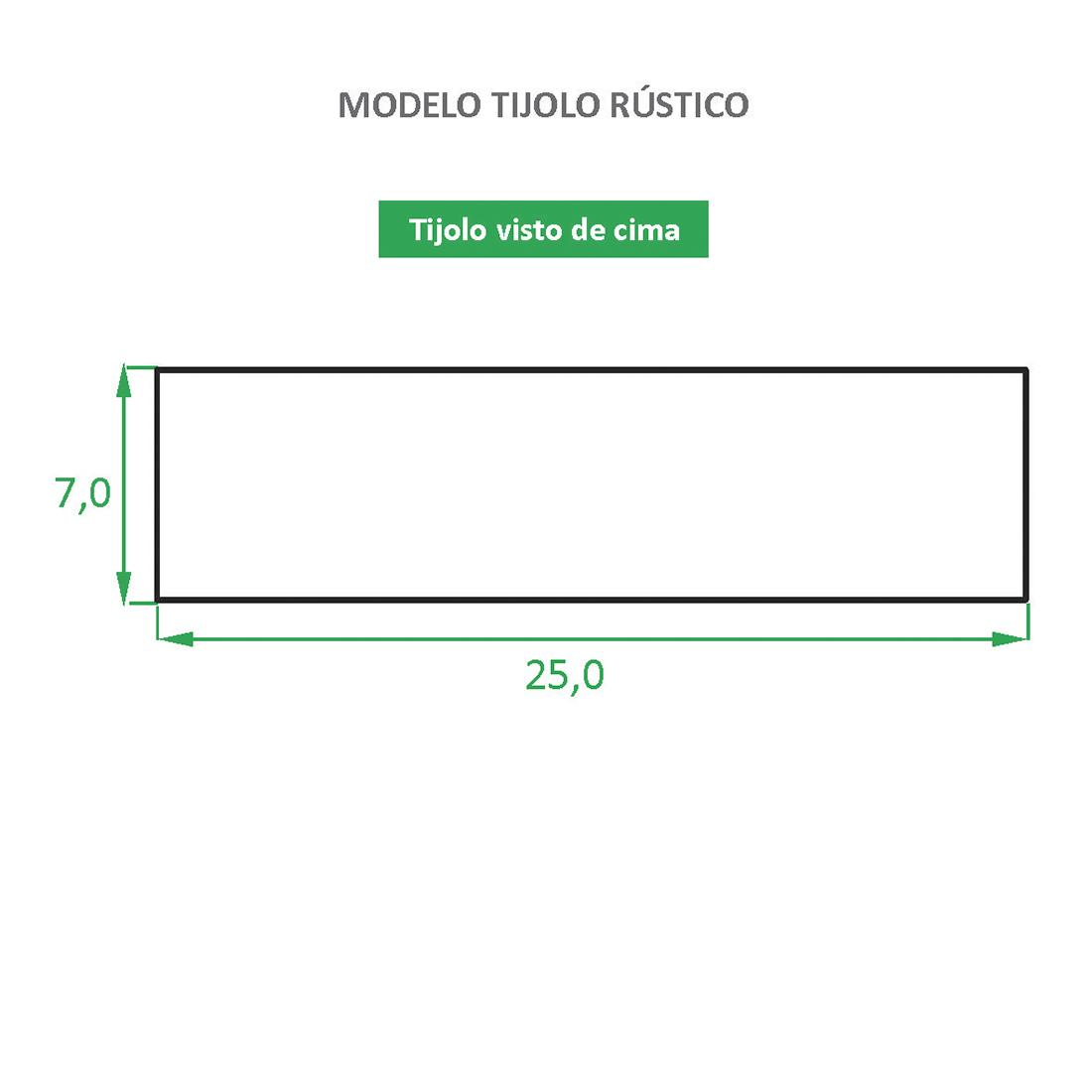 Tijolinho ecológico Revestimento Rústico - São Joaquim Caixa com 1,05 m²