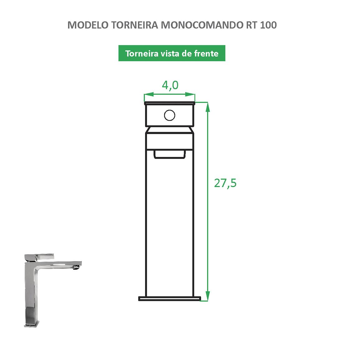 Torneira Monocomando bica alta RT 100