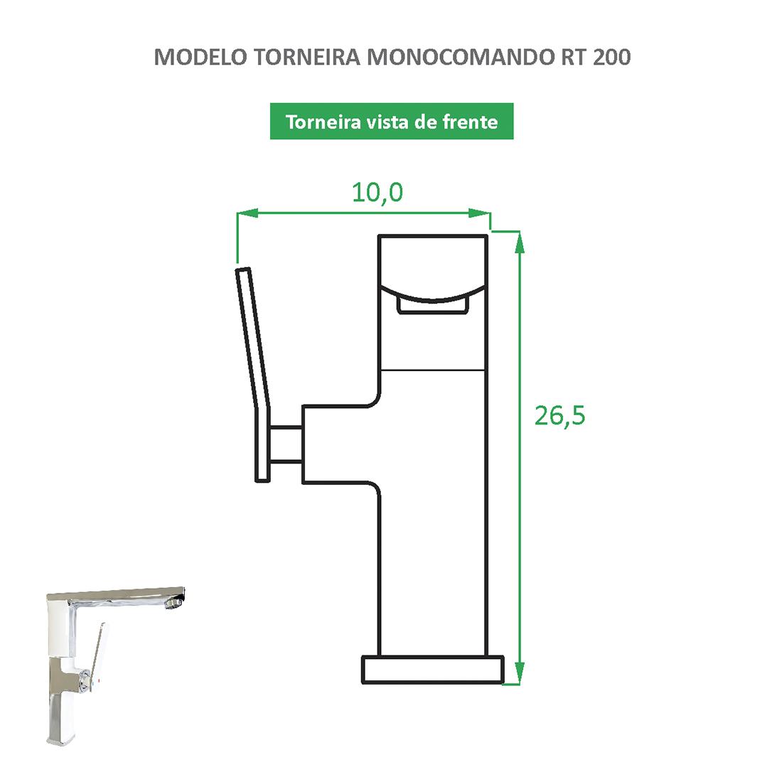 Torneira Monocomando bica alta RT 200