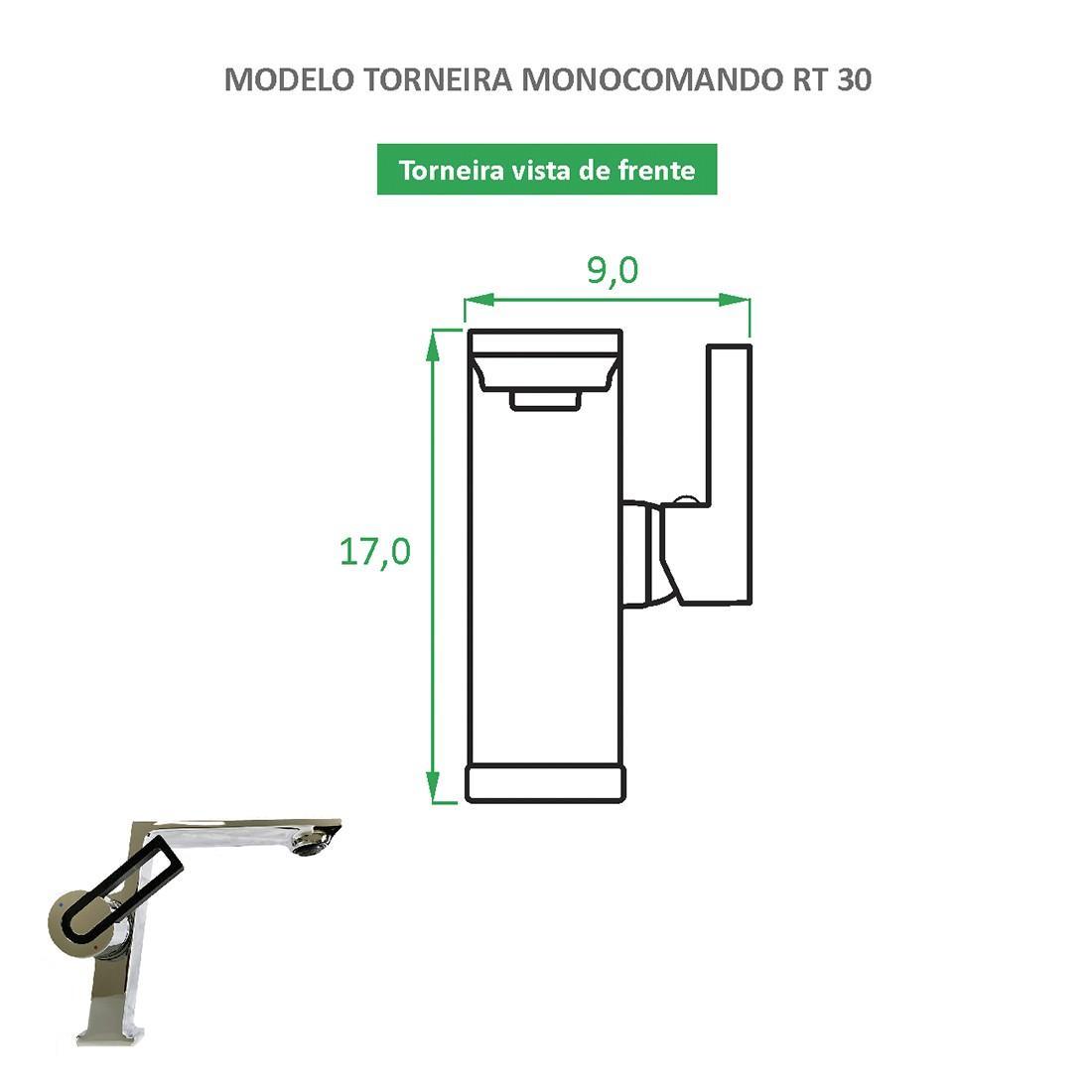Torneira Monocomando Quadrada RT 30