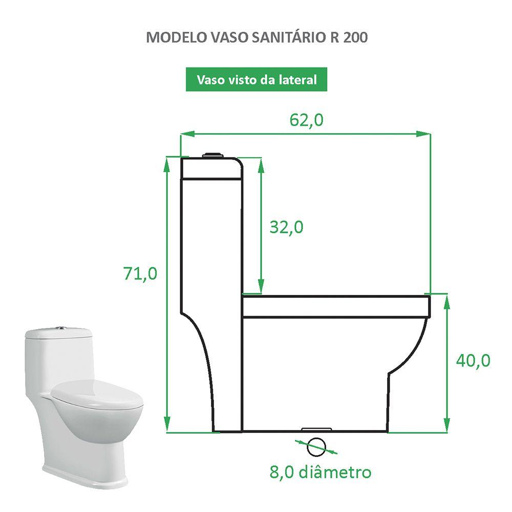 Vaso Sanitário Caixa Acoplada Reno R 200