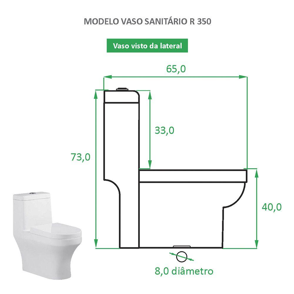 Vaso Sanitário Caixa Acoplada Reno R 350 Lançamento!