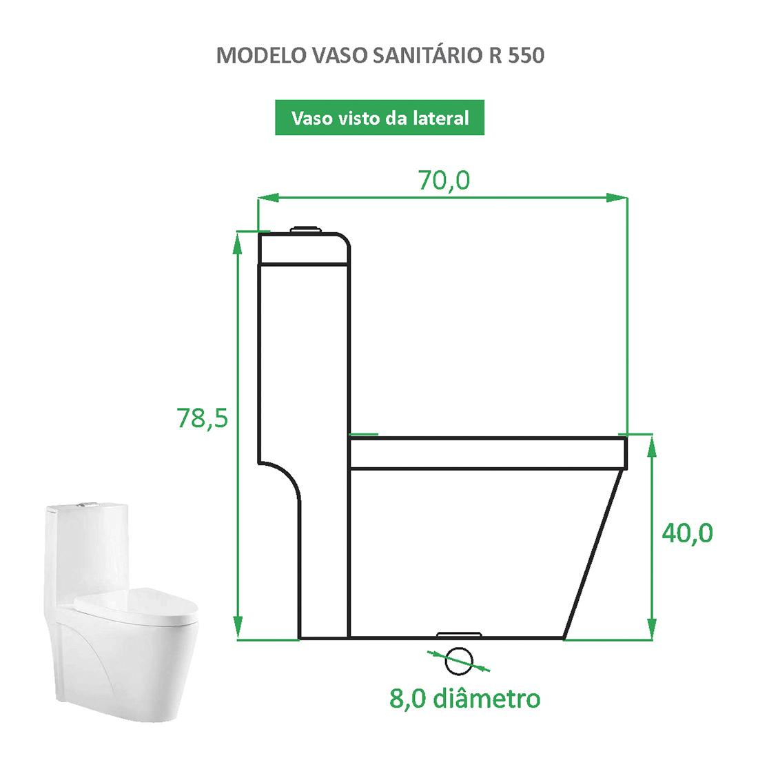 Vaso Sanitário Reno R 550 - Novo Modelo!