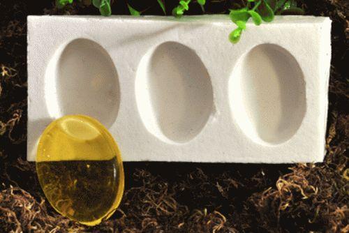 Oval 15g ( 4,8x3,5x1,2cm ) - 3 cavidades