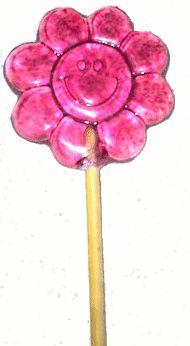 Pirulito Chapado Flor Infantil 10g - 3 cavidades