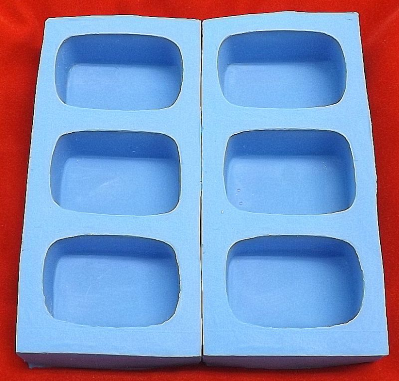 Retângular 100g ( 7,5x5,5x2,5 ) - 6 cavidades