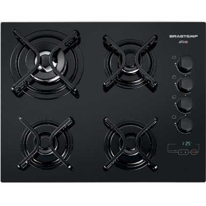 Cooktop Brastemp Ative! 4 bocas Touch Time - BDT62AE - BIVOLT