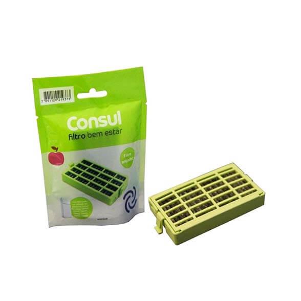Filtro Bem Estar Geladeira Consul Anti Bactéria / Anti Odor CRM55 Frost Free Original W10515645