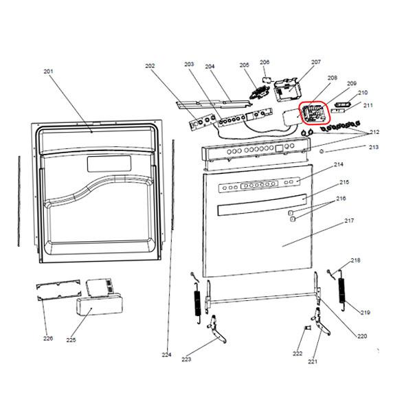 Placa Eletrônica Lava Louça Brastemp Ative 12 Serviços BLF12 127V de Potência Original W10551247