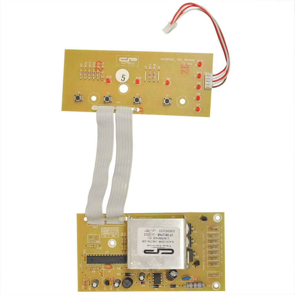 Placa Eletrônica Lavadora Consul Maré Super CWL10 CWL75 Interface + Potência Bivolt Paralela