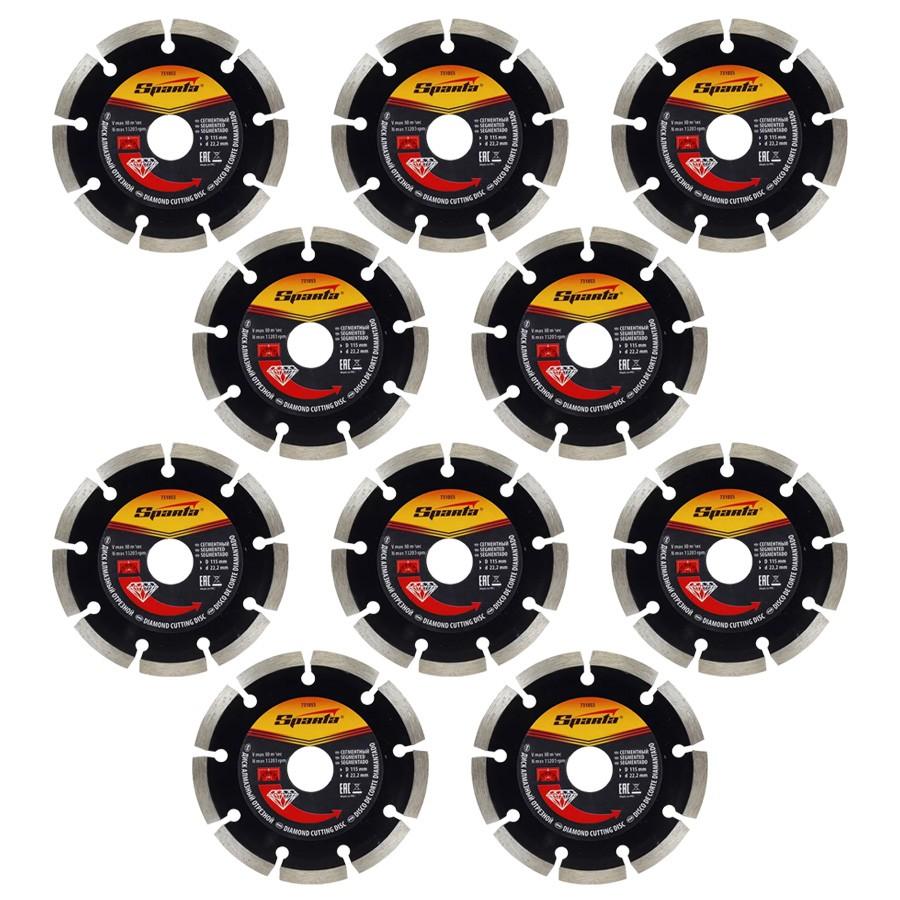 10 Disco de Corte Diamantado Segmentado 110 X 20 MM Corte a Seco