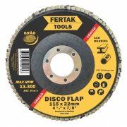 Disco de Lixa Flap Grão 80 Tamanho 115mm - 10 discos