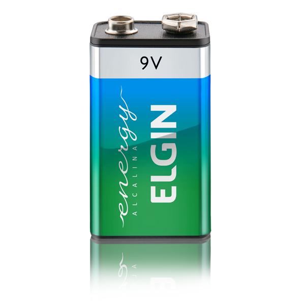 Bateria Alcalina 9v Elgin Cartela