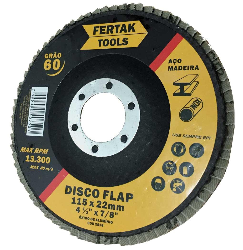 Disco de Lixa Flap Grão 120 Tamanho 115mm - 10 discos