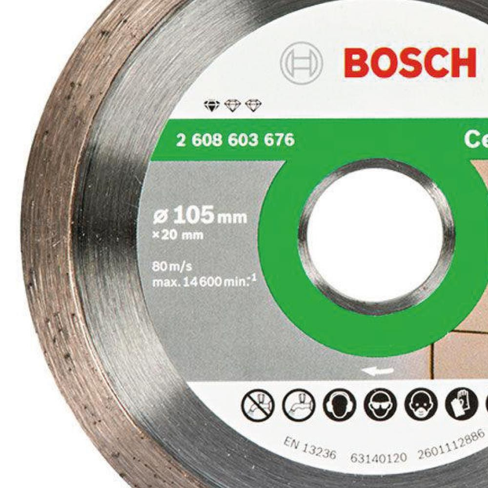 Disco Corte Cerâmica Liso 105mm Bosch