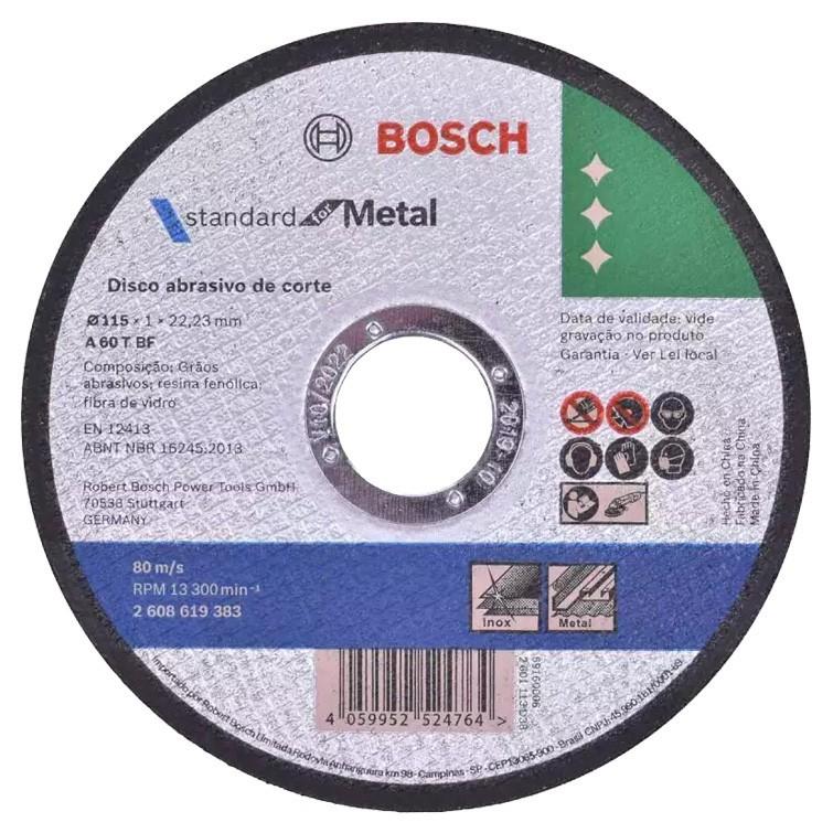 Disco de Corte Metal 115mm Bosch Para Esmerilhadeira