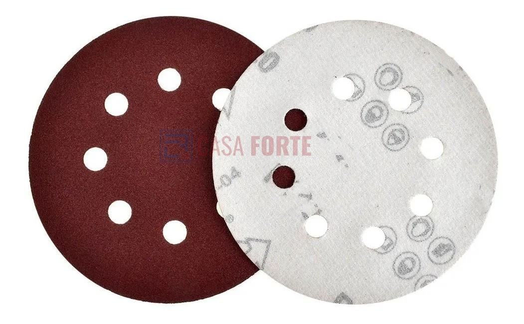 Disco de Lixa 125mm com Velcro Grão 120 8 Furos