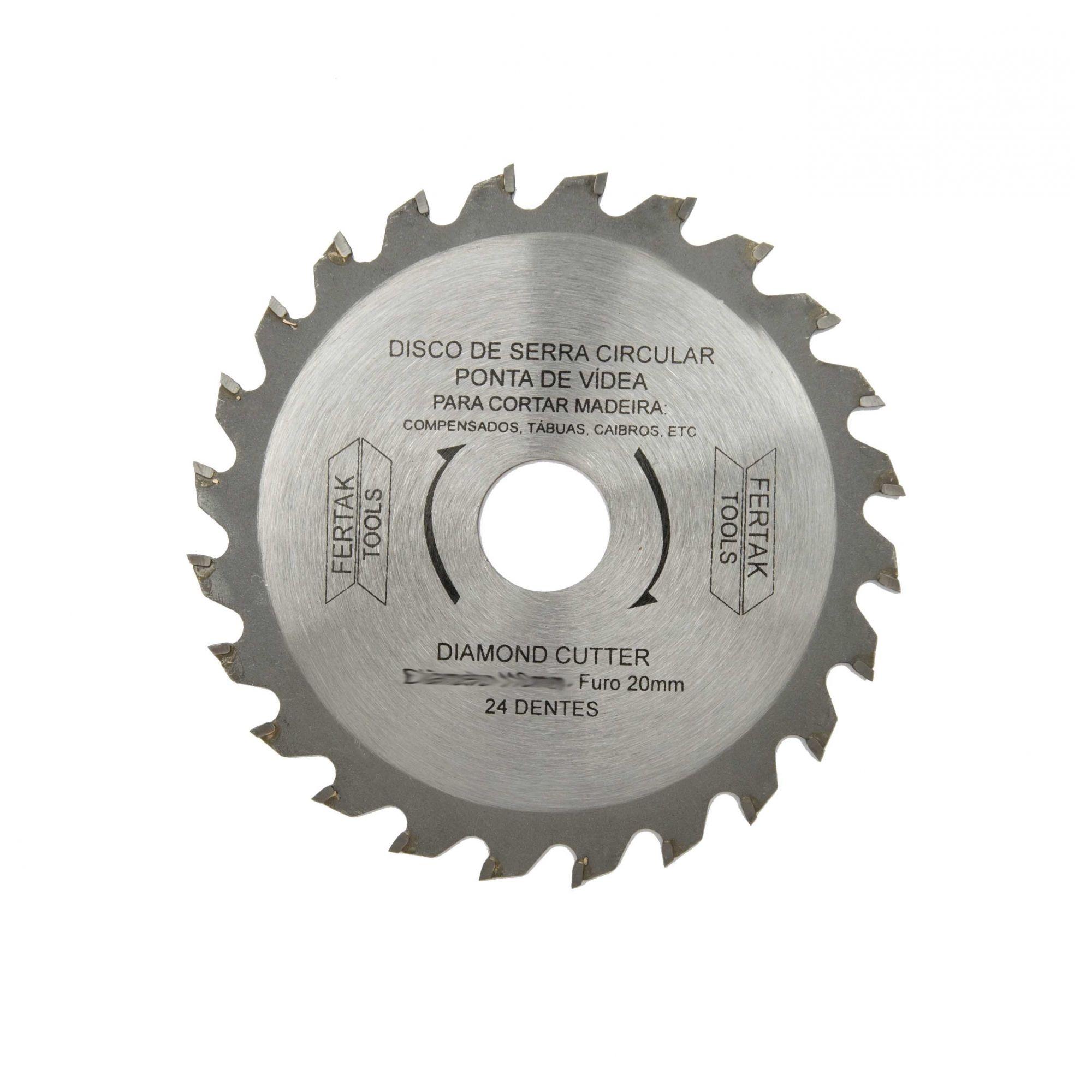 Disco de Serra Circular  180mm  24 dentes com Vídea