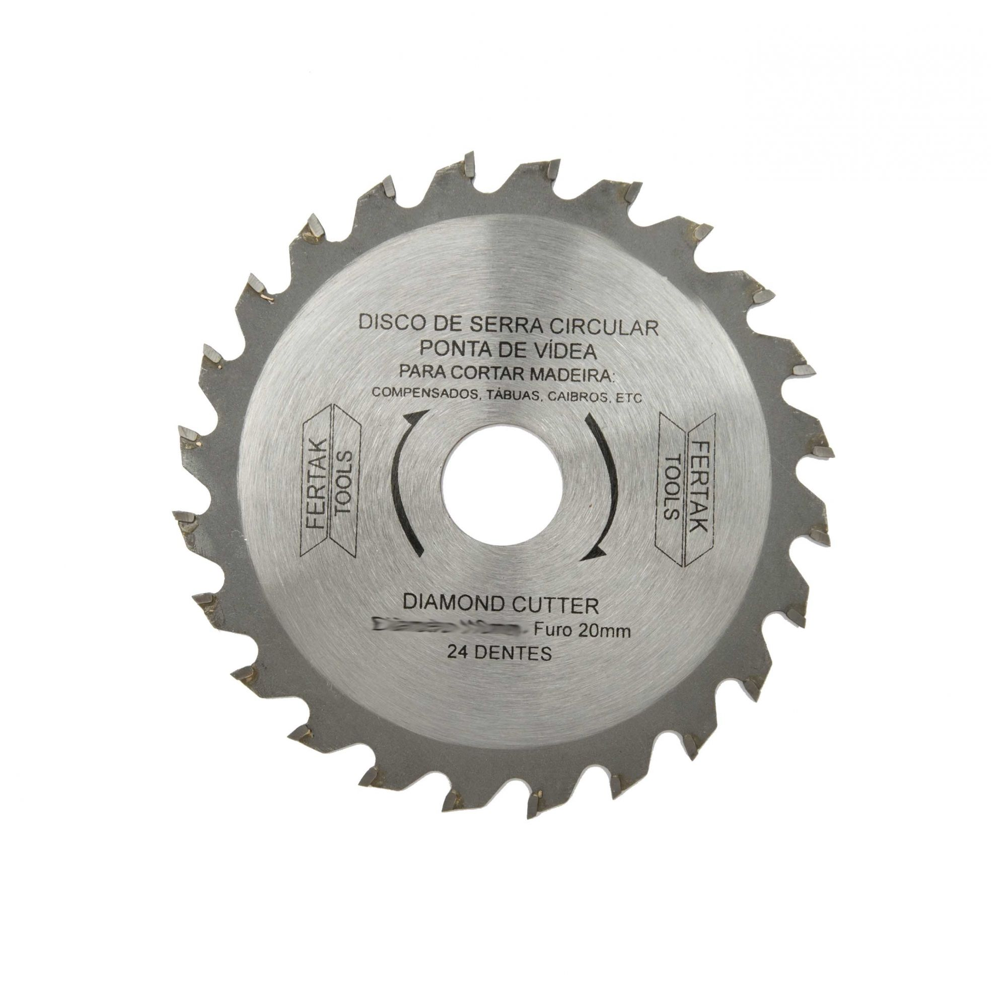 Disco de Serra Circular 110 mm 24 Dentes com Vídea