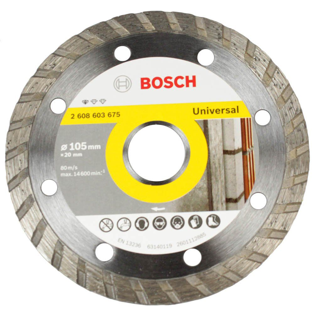 Disco Diamantado Standard Turbo Universal 105mm - Bosch