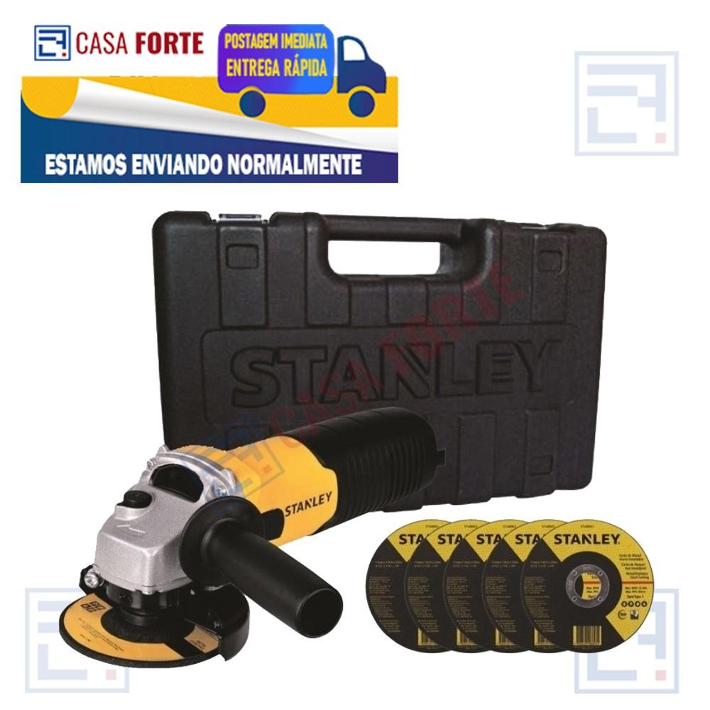 """Esmerilhadeira angular Stanley 710w 127V com Discos 4.1/2"""""""