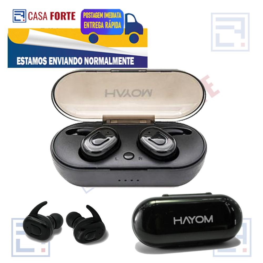 Fone de Ouvido Airphone Bluetooth 5.0 Sem Fio Preto FO2809