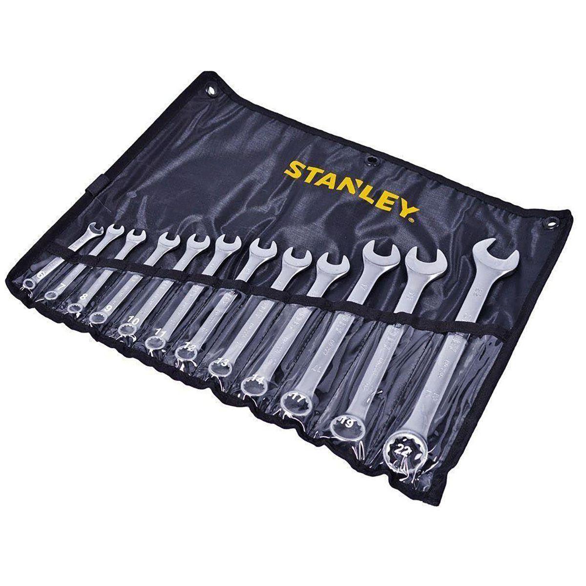 Jogo de Chave Combinadas 6 a 22Mm 12Pç Stanley