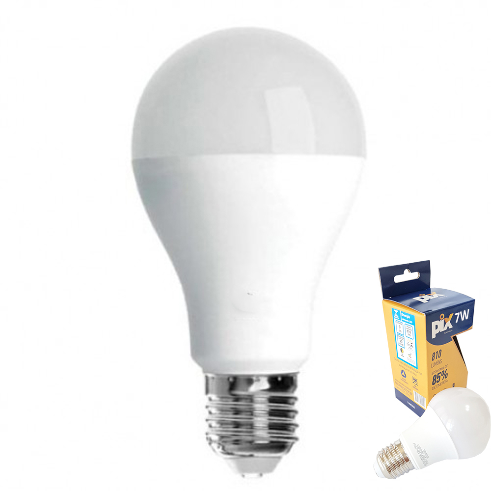 Lâmpada Led 7w Branca Quente 3000k Bivolt Kit com 10 Lâmpadas