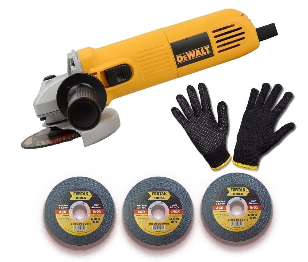 Lixadeira Esmerilhadeira 4 1/2 Dewalt 700W - 220V DL Especial