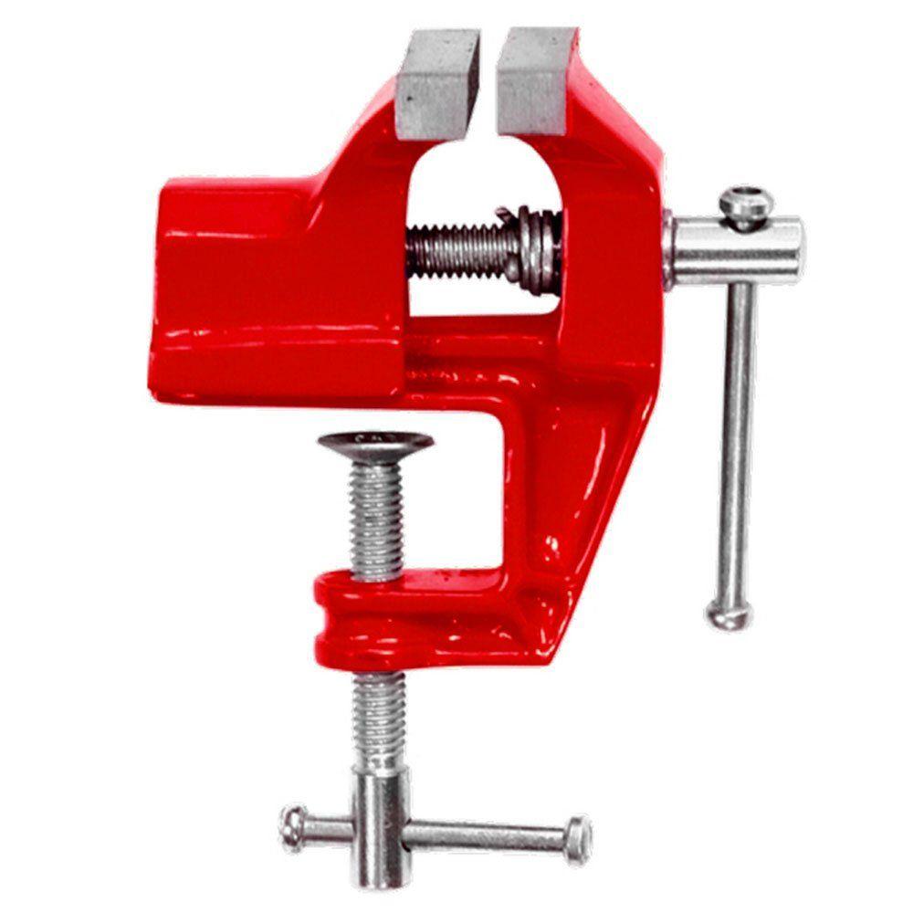 Mini torno de bancada 3,0 Pol. 75 mm com base fixa