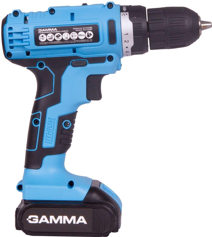 Parafusadeira Furadeira Gamma 16v com 02 Baterias de Lithium