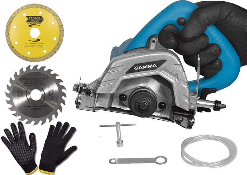 Serra Mármore Gamma 220V - 1240W - Com kit de Acessórios