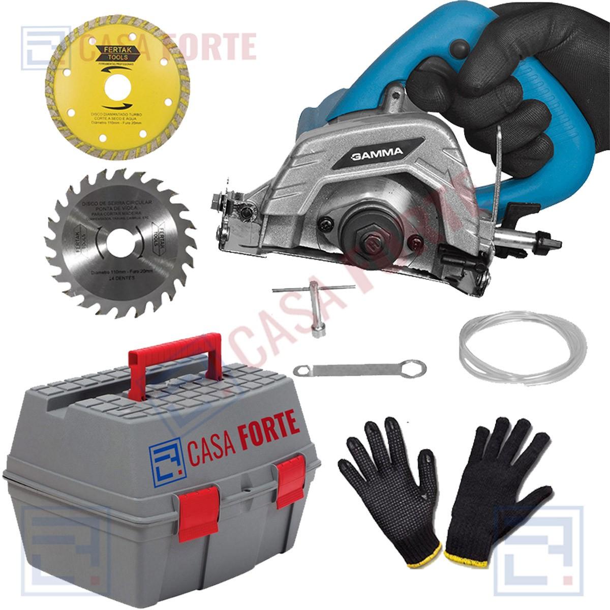 Serra Marmore 220V - 1240W kit de Acessórios e Maleta