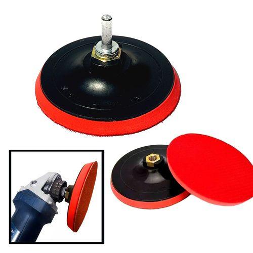 Suporte Para Lixa C/ Velcro Boina 115mm Disco Prato Borracha