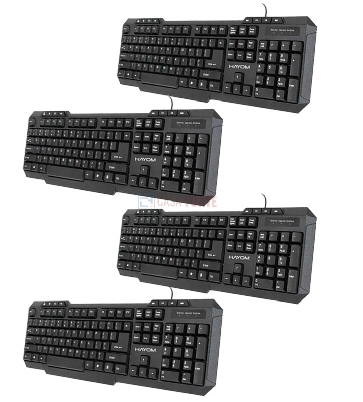 Teclado Office Básico com fio Kit com 04 teclados