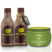 Escova Progressiva NATURALE - Orgânica - 300ml + Mascara Argan Oil INOAR
