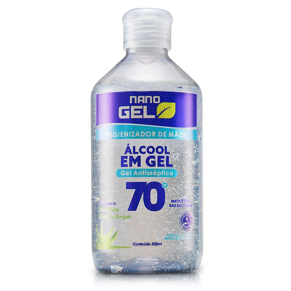 Álcool em Gel 70 - Nano Gel Naturale - 500ml