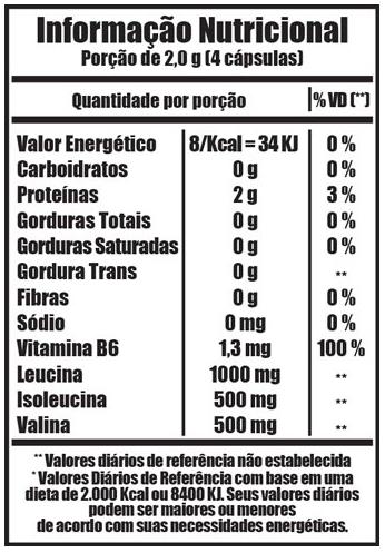 Bcaa 500mg - 120 Cápsulas - Fitoway