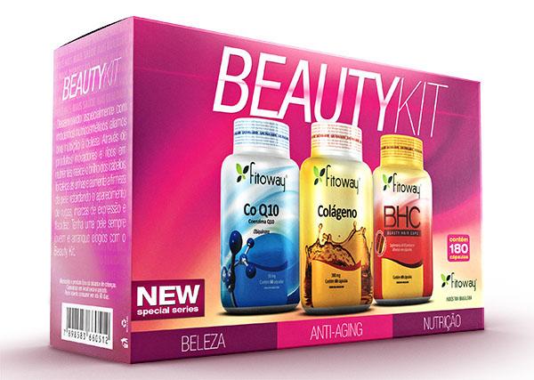 Beauty Kit Fitoway - Q 10 + Colágeno + BHC
