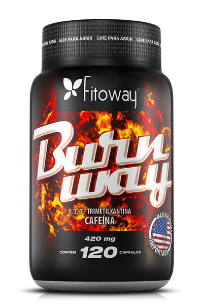 Burnway fitoway Cafeína 420mg - 120 cáps