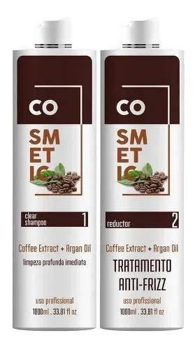 Escova Progressiva De Café Coffe Cosmetic Line 2x1000ml