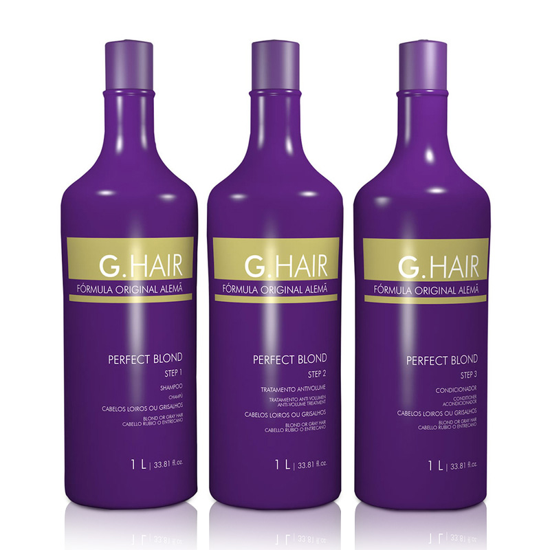 G-Hair Alemã Perfect Blond Progressiva (Kit 3X1 Litro)
