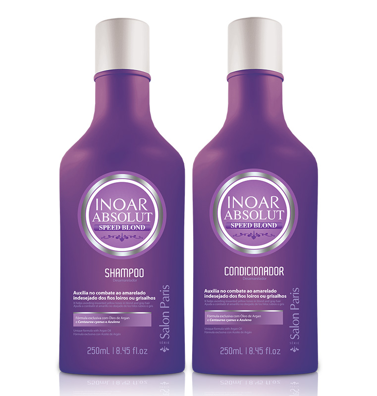 Inoar Absolut Speed Blond - Kit (2 Produtos) - 250ml - Shampoo e Condicionador