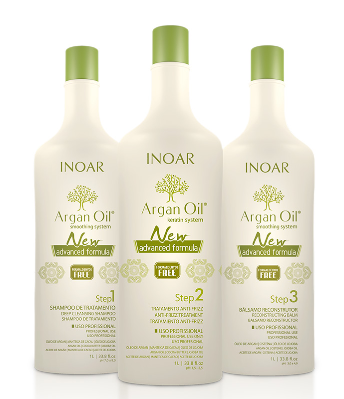 Inoar - Kit Argan Oil System New Advanced (3 X 1 Litro)